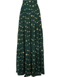 Peter Pilotto - Floral-jacquard Crepe Maxi Skirt - Lyst