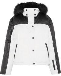 TOPSHOP - Siren Hooded Faux Fur-trimmed Ski Jacket - Lyst