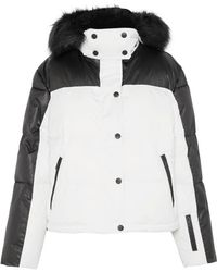 TOPSHOP - Siren Hooded Faux Fur-trimmed Ski Jacket - Lyst