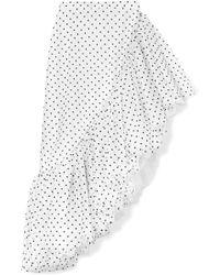 Rodarte - Ruffled Polka-dot Flocked Tulle Skirt - Lyst