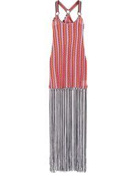 Missoni - Mare Fringed Crochet-knit Maxi Dress - Lyst