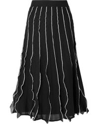 RED Valentino - Pleated A-line Skirt - Lyst