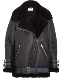 Acne | Velocite Leather-trimmed Shearling Jacket | Lyst