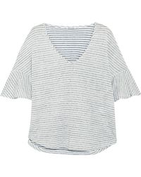Splendid - Striped Linen And Cotton-blend Top - Lyst