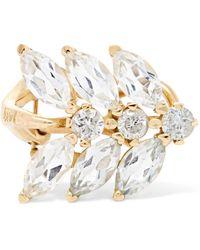 Loren Stewart - Aura 14-karat Gold, Diamond And Topaz Ear Cuff - Lyst