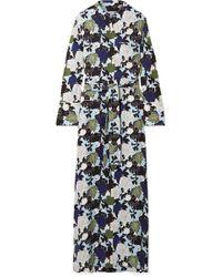 Equipment - Britten Floral-print Silk Crepe De Chine Maxi Dress - Lyst