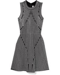 a7a75f045e3a6 MICHAEL Michael Kors - Woman Eyelet-embellished Knitted Mini Dress Black -  Lyst