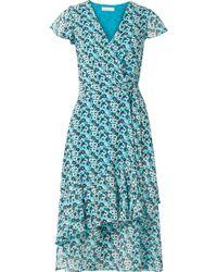 MICHAEL Michael Kors - Springtime Floral-print Georgette Wrap Dress - Lyst