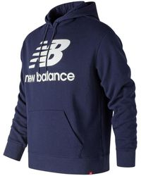 New Balance - Essentials Stacked Pullover Hoodie - Lyst