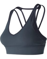 6b1be8d932959 New Balance Heritage Racerback Sports Bra in Blue - Lyst