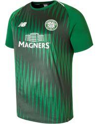 9e6182a19f6 Lyst - New Balance Celtic Fc Pre Match Top Pre Order in Green for Men