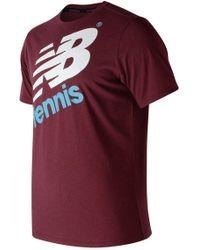 New Balance - Graphic Heathered Tennis Crew - Lyst
