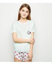 b9657728f896c New Look - Girls Mint Green Watermelon Pyjama Set - Lyst