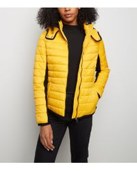 dab10819e2aa2 New Look Mustard Colour Block Windbreaker in Yellow - Lyst