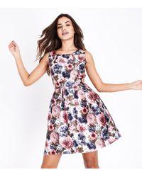 Mela - Pink Floral Print Prom Dress - Lyst