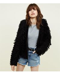 New Look - Loop Knit Cardigan - Lyst
