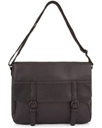New Look - Black Leather-look Satchel - Lyst