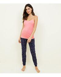 8e7c980cdd3 New Look Fairisle Print Pyjama Set in Blue - Lyst