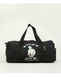 New Look - Black Rick And Morty Gym Holdall Bag - Lyst
