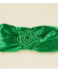 New Look - Green Satin Swirl Knot Headband - Lyst