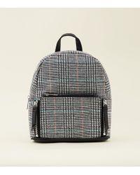 New Look - Black Check Mini Backpack - Lyst