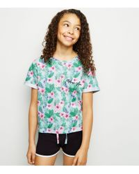 New Look Girls Blue Tropical Pyjama Set