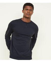 New Look - Navy Crew Neck Sweatshirt - Lyst