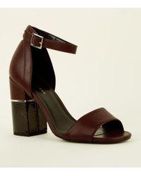 ad21c5853b7 Stella McCartney Geena Marble-Platform Sandals in Natural - Lyst