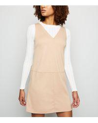 dca6bc28ea1d New Look Camel Floral Print Midi Shirt Dress in Natural - Lyst
