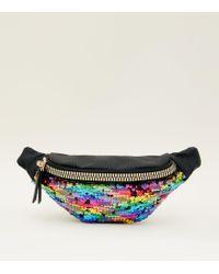 New Look - Rainbow 2 Way Sequin Bum Bag - Lyst