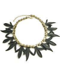 Nicole Miller - Cycle Gear Floral Petal Statement Necklace - Lyst