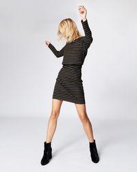 Nicole Miller   Vintage Striped Sweatshirt Dress   Lyst