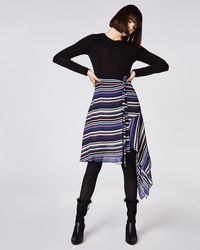 Nicole Miller - Flight Stripe Skirt - Lyst