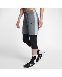 438fa0cd94 Lyst - Nike 3'' Pronto Essential Printed Running Shorts in Black