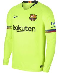 Nike - 2018/19 Fc Barcelona Stadium Away Long-sleeve Football Shirt - Lyst
