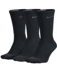 Nike - Dri-fit Half-cushion Crew (3 Pair) Training Socks - Lyst