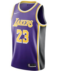 b7cbea482 Nike - Lebron James Statement Edition Swingman (los Angeles Lakers) Nba  Connected Jersey -