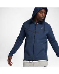 938e65e83c98 Lyst - Nike Sportswear Tech Fleece Men s Hoodie in Blue for Men
