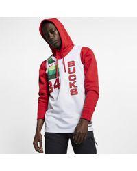 Nike Giannis Antetokounmpo Earned City Edition Swingman (milwaukee Bucks) Nba Connected Jersey - White
