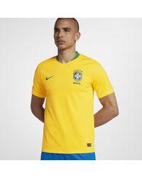 Nike - 2018 Brazil Cbf Stadium Home Football Shirt - Lyst