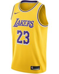 Nike - Lebron James Icon Edition Swingman Basketball Jersey (los Angeles Lakers) Nba Connected Jersey - Lyst
