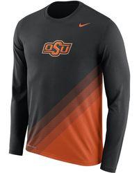 Nike | Dry College Legend Sideline (oklahoma State) Men's Long Sleeve T-shirt | Lyst