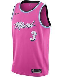 Nike Dwyane Wade Miami Heat Earned Edition Swingman Jersey - Pink