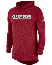 Red Asymmetric Track Crew Men's And In Sweatshirt Lyst Field Nike qTR4wwH