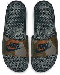 release date: d12d0 496ef Nike - Benassi JDI Printed -Badeslipper - Lyst