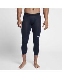 5a3d843baec63 Nike Pro Hyperwarm Aeroloft Men's Long Sleeve Training Top in Purple ...