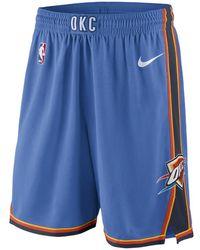 8252b7d09c093c Nike - Oklahoma City Thunder Icon Edition Swingman Men s Nba Shorts - Lyst