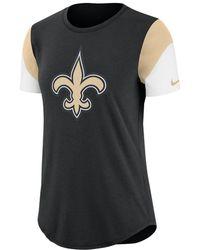 Lyst - Nike Tri-blend 2016 Bca (nfl Saints) Women s T-shirt in Black 04eb4b71d