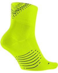 adeca86ba Nike Elite Cushion Quarter Dri-fit Running Socks in White for Men - Lyst