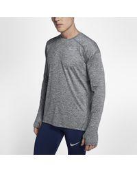 797cd661 Lyst - Nike Element Flash Men's Long Sleeve Running Top in Black for Men